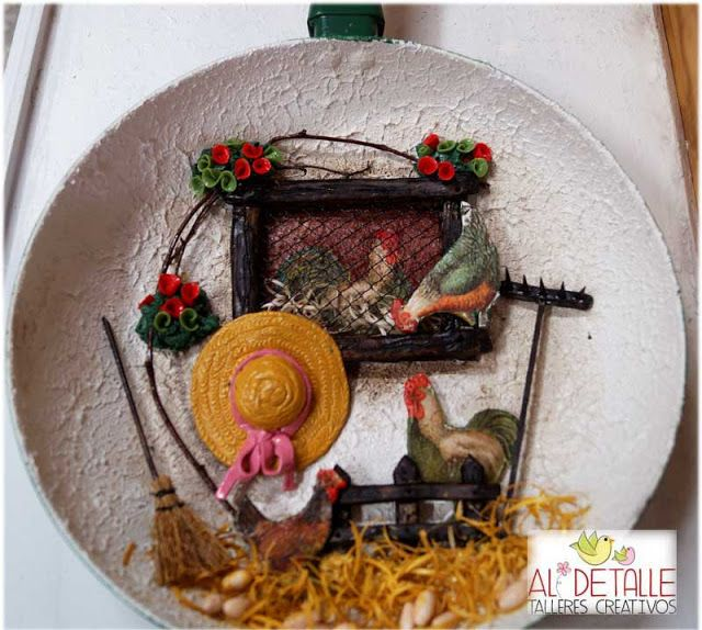 Rosabel manualidades sartenes decoradas tejas y alto - Rosabel manualidades ...