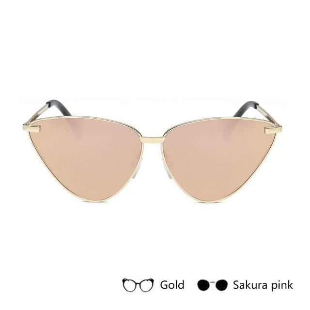 Cat Eye Retro Vintage Mirror Women Sun Glasses