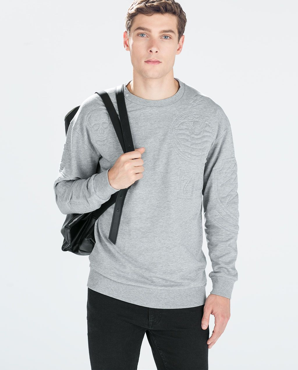 ZARA - MAN - SWEATSHIRT WITH QUILTED DETAIL