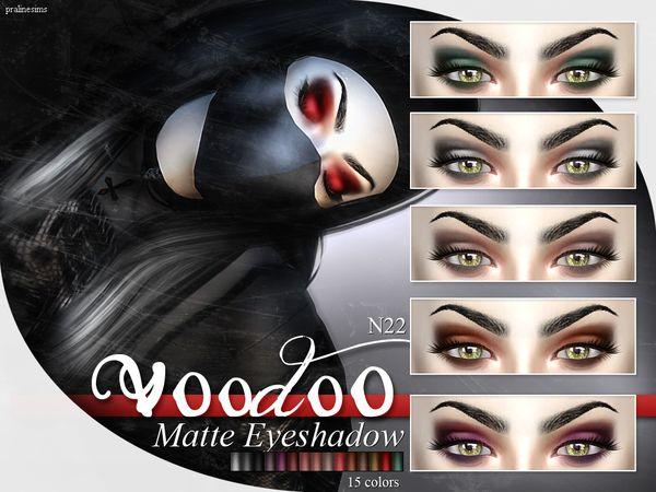 The Sims Resource: Voodoo – Matte Eyeshadow  N22 by Pralinesims • Sims 4 Downloads