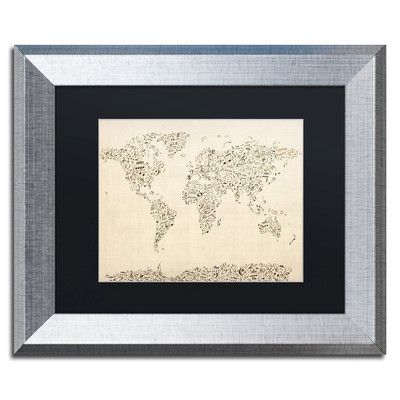 Trademark art music note world map by michael tompsett framed trademark art music note world map by michael tompsett framed graphic art size 11 gumiabroncs Images