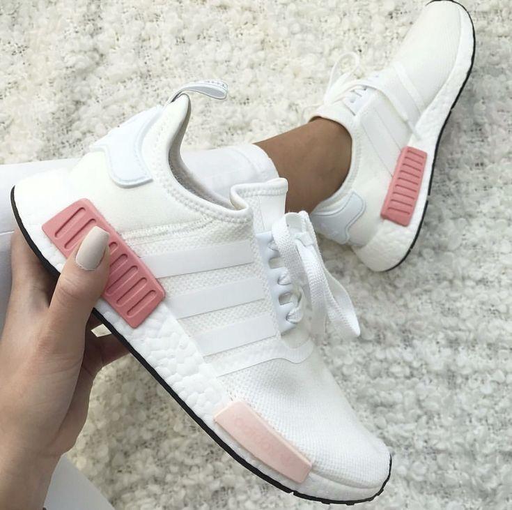 2017 Neue Adidas NMD R1 Shoes Weiß Rosa BY9952 Damen Adidas
