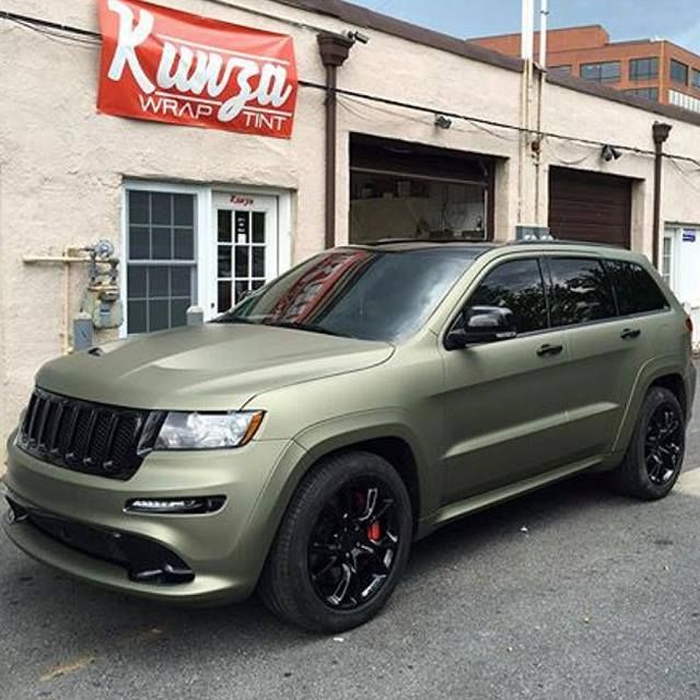 Boss Wrap Done In Avery Dennison Sw900 Matte Midnight Sand Metallic Thx Kunza Wrap Instagram Com Kunzawraptint Vinyl Wrap Car Vinyl Wrap Colors Green Jeep