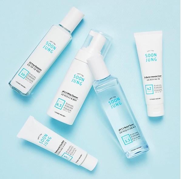 Etude House Soon Jung 10 Free Moist Emulsion Sensitive Skin Care Routine Sensitive Skin Care Skin Care