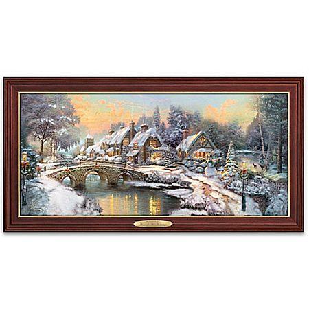 Thomas Kinkade Home For The Holidays Illuminated Wall ...