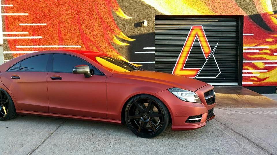 Apex Customs Mercedes CLA Matte Red 3M Vinyl Wrap. Vinyl