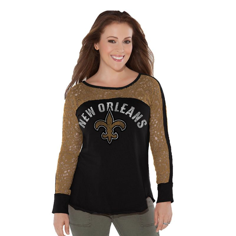 New Orleans Saints Touch by Alyssa Milano Women s Playoff T-Shirt - Black 0ebe6d9de