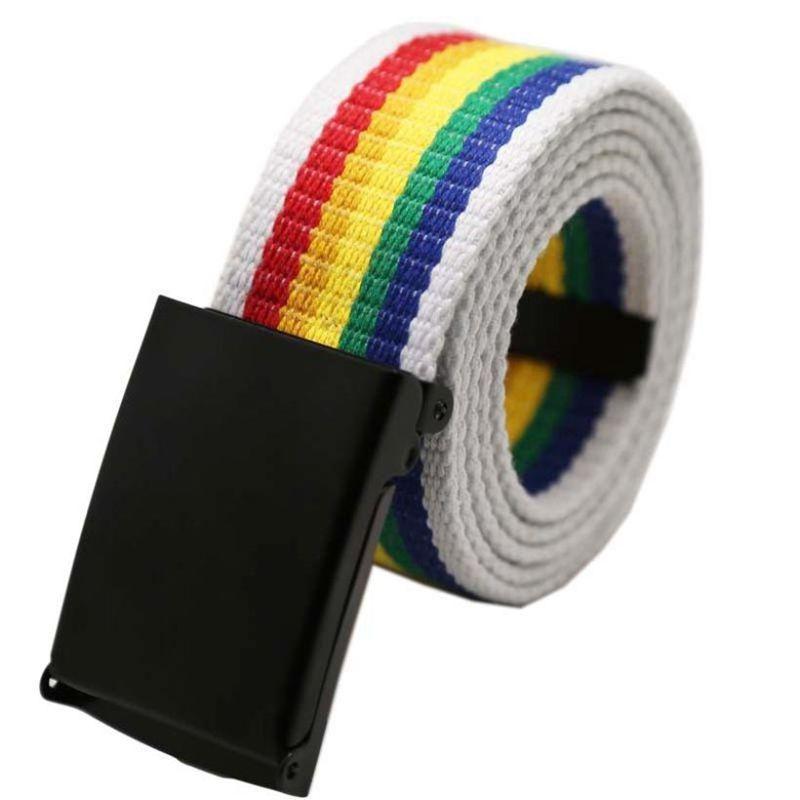 Fashion Boys/' Men/'s Plain Webbing Waist Belt Waistband Unisex Casual Canvas Belt