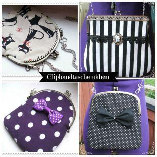 cliptasche anleitung / bag tutorial free DIY do it yourself sewing clutch