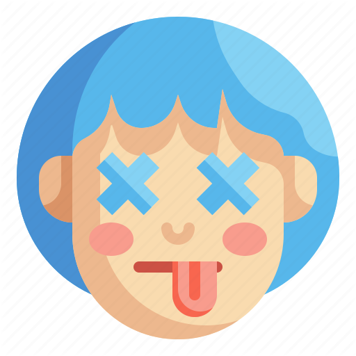 Dead Defunct Emoji Emotion Face Lifeless Tongue Icon Download On Iconfinder Emoji Icon Emoji Vector Illustration