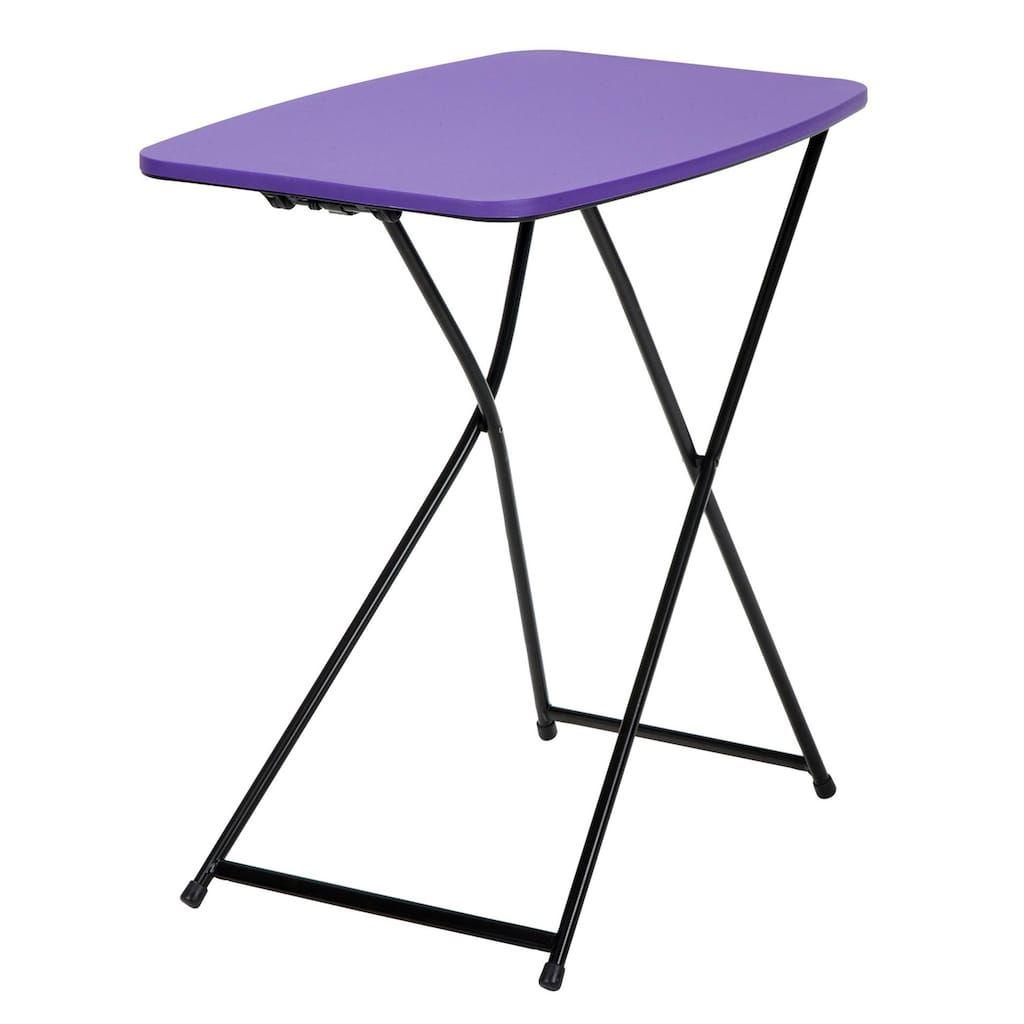 Cosco Tailgate Indoor Outdoor Folding Table 2 Piece Set Purple