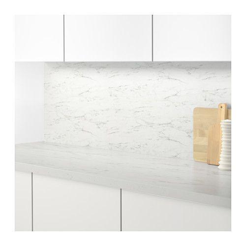sibbarp rivestimento da parete su misura bianco effetto marmo laminato kitchens nest and. Black Bedroom Furniture Sets. Home Design Ideas