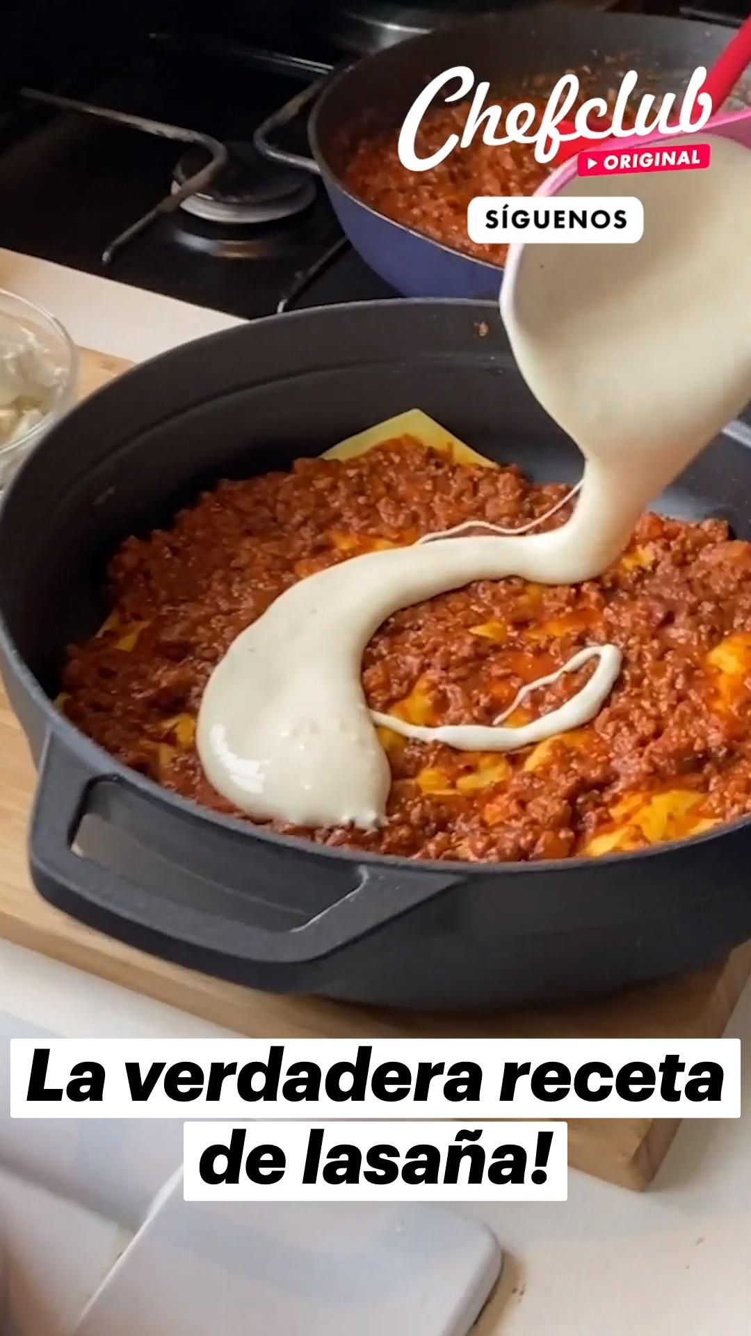 La verdadera receta de lasaña!