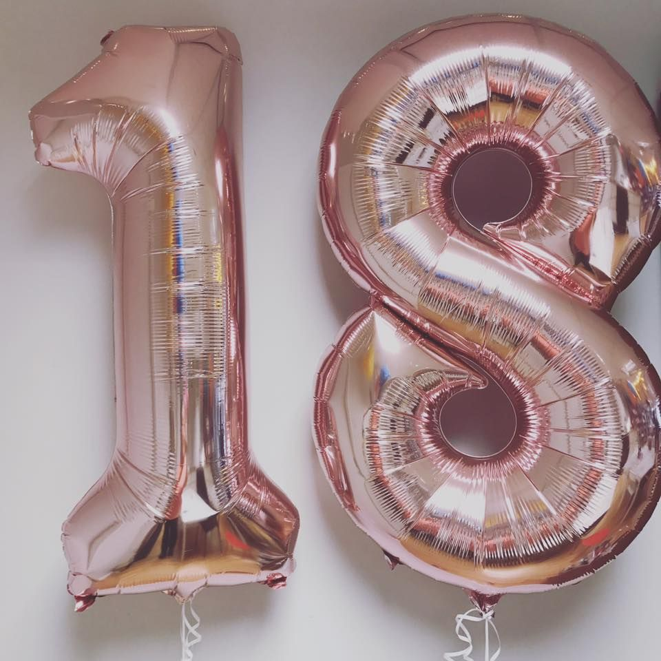 20th Birthday Balloons Rose Gold Number 20 Balloons 20 Balloons