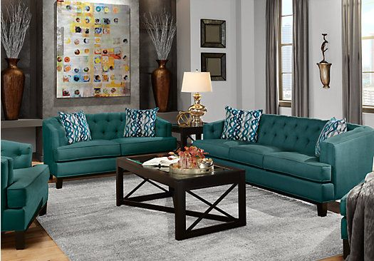 Living Room Sets At Rooms To Go shop for a chicago mermaid 7 pc living room at rooms to go. find