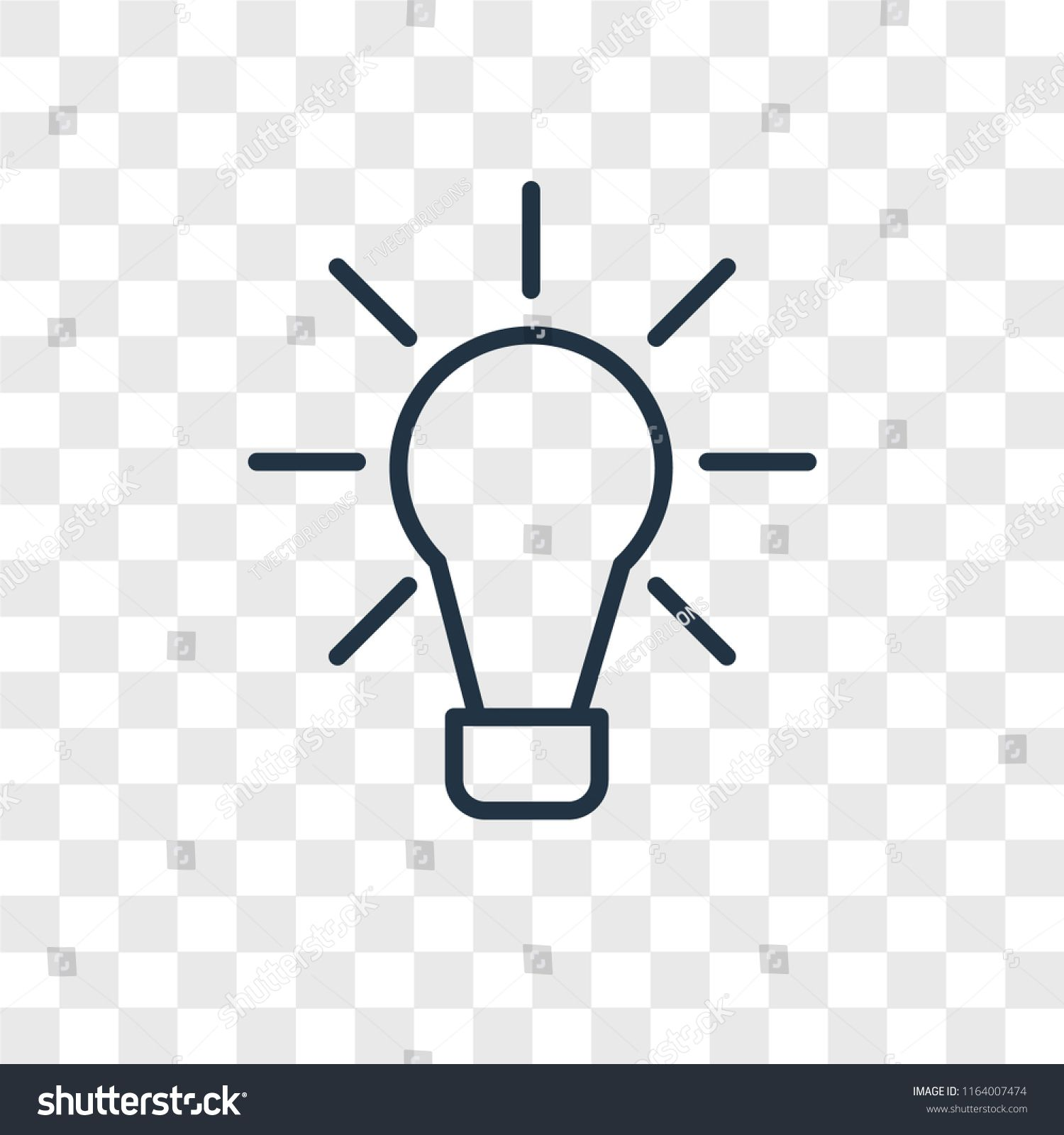 Idea Vector Icon Isolated On Transparent Background Idea Logo
