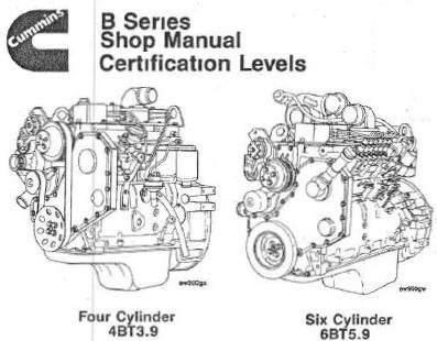 Manual Servicio Reparacion Motor Cummins 6bt 4bt Serie B