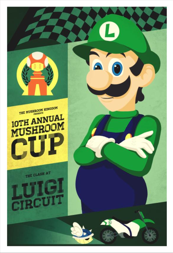 Luigi Circuit Mario Kart Poster Series By Indy Lytle On Deviantart Luigi Super Mario Bros Mario