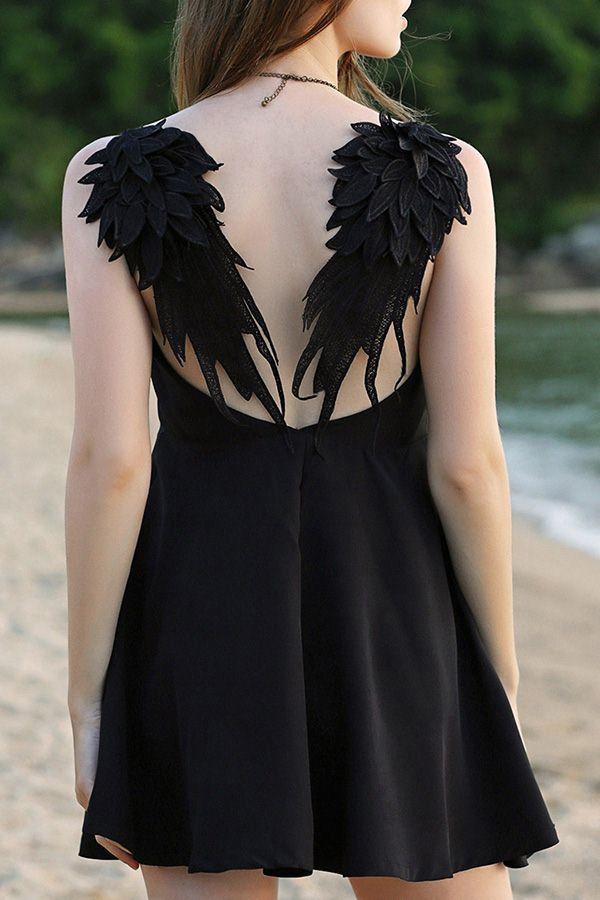 31c2937dbd Angel Back A-Line Dress | { hallow's eve } | Angel wing dress, Dresses,  Fashion