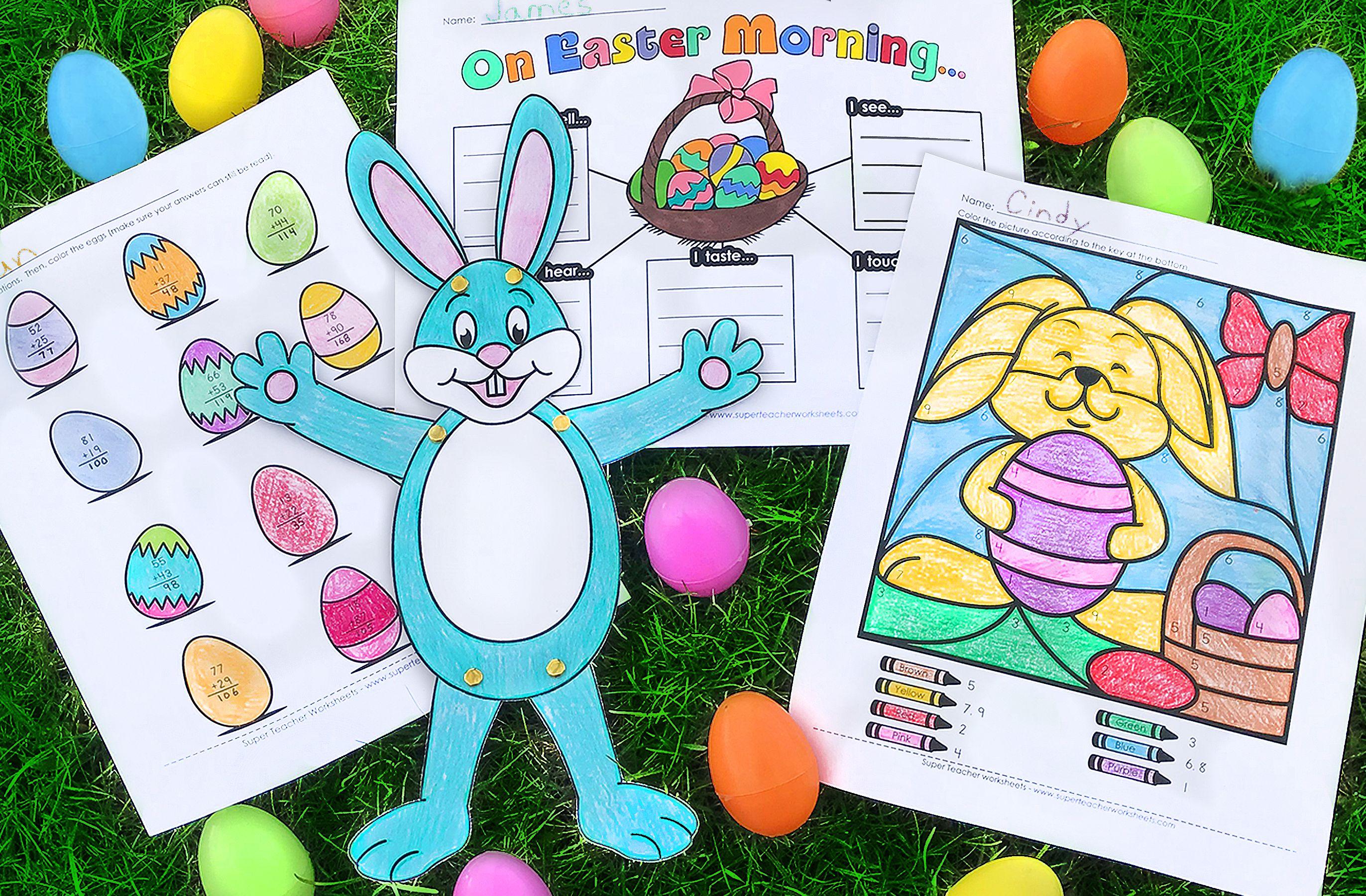 Visit The Superteacherworksheets Easter Page To Print