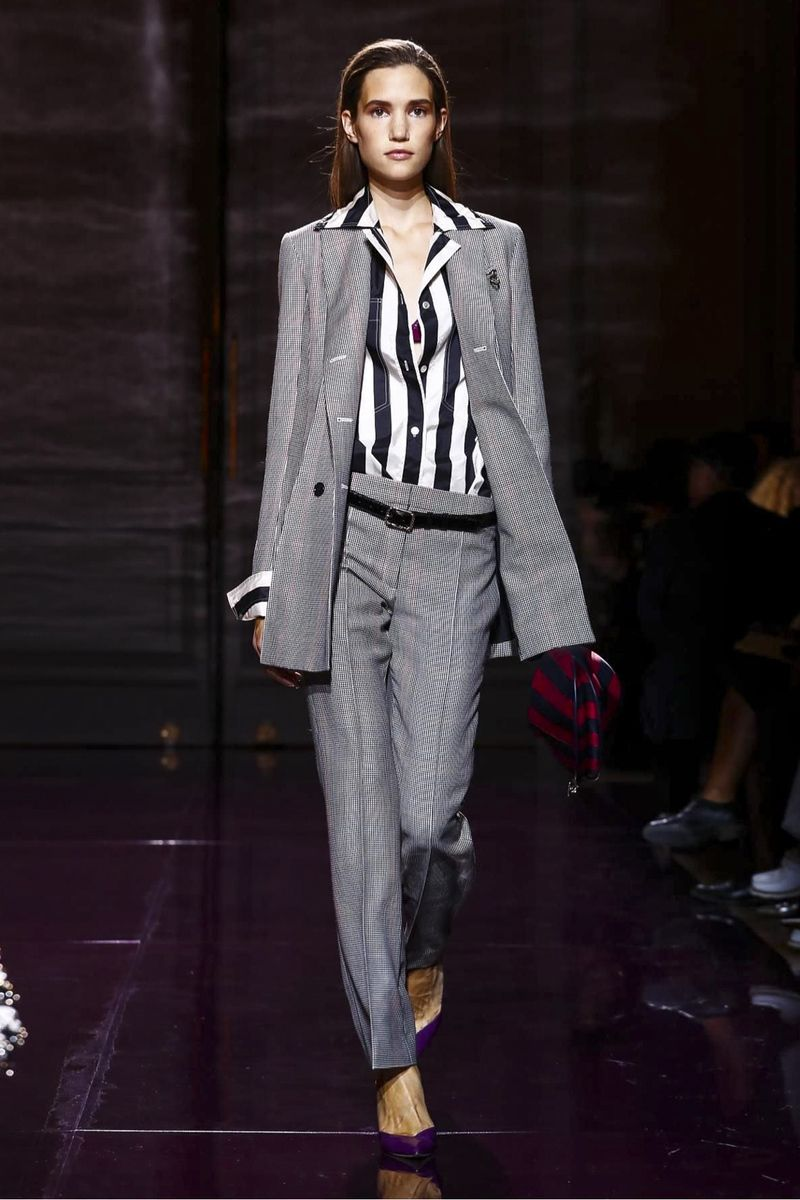 Guillaume Henry seduced us in purple – a magenta-glowing catwalk and opening looks that wandered from maroon and lavender to mulberry and lilac. He got that louche and luxe partisan tailoring...