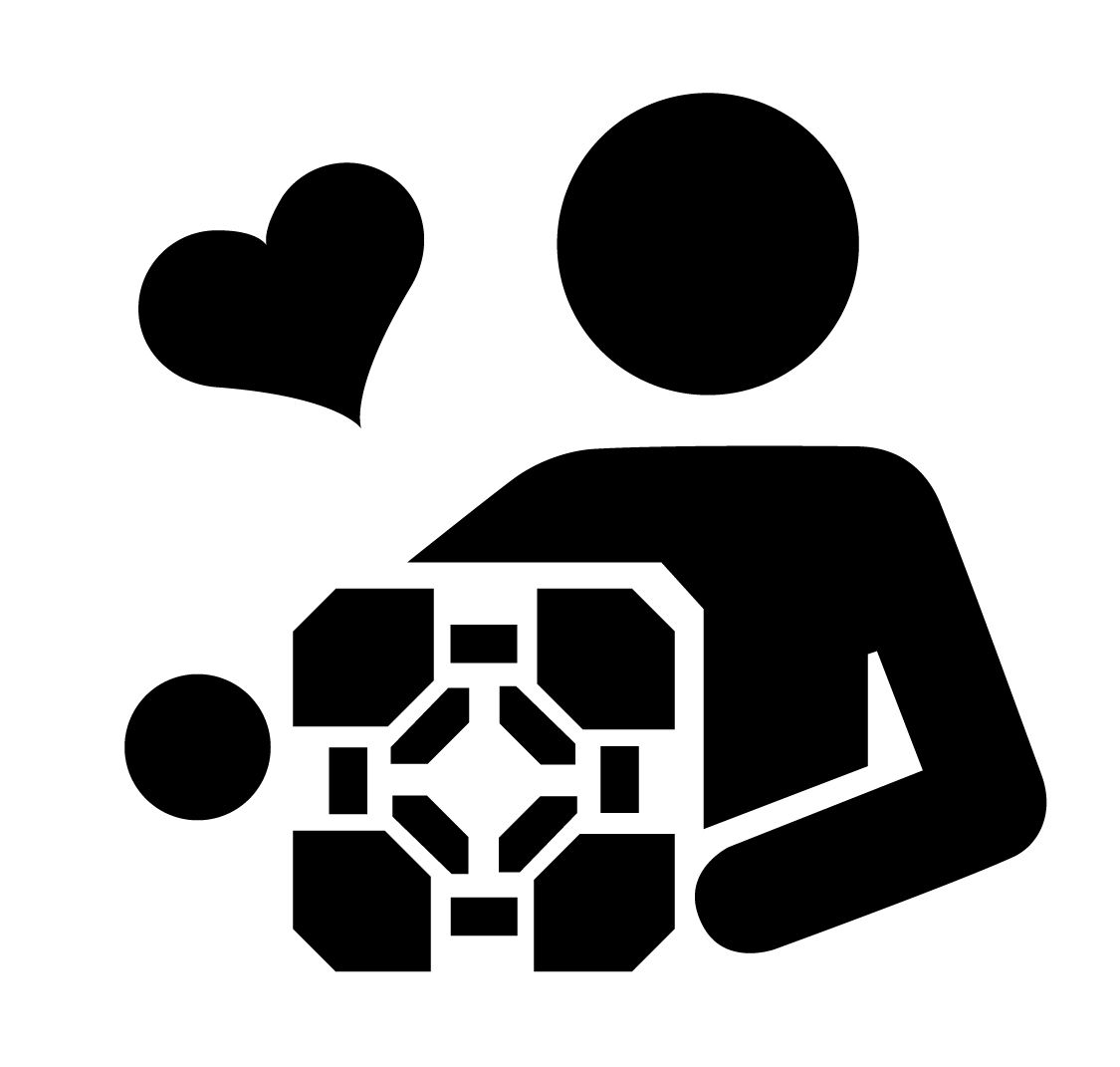 I love you, weighted companion cube stencil template | Stencil ...