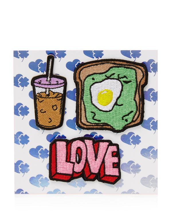 Stoney Clover Lane Coffee, Toast, Love Stick-On Patches