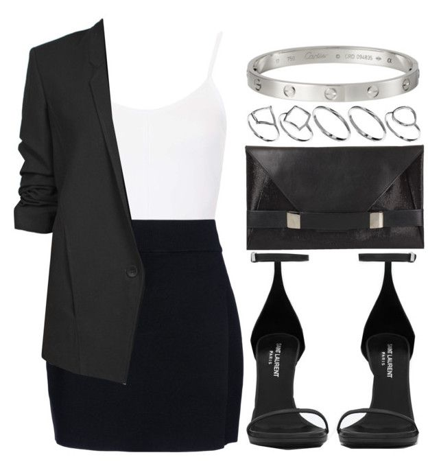 """""""Style #4056"""" by vany-alvarado ❤ liked on Polyvore featuring Topshop, A.L.C., Yves Saint Laurent, Helmut Lang, ASOS and Unique"""