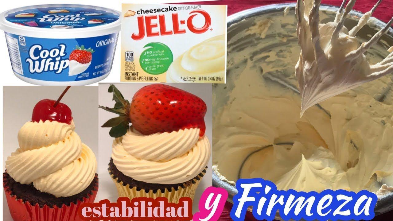 Como Dar Firmeza A La Crema Batida Cool Whip Con Pudding La Cocinita De Kimberly Youtube Desserts Pastry Food