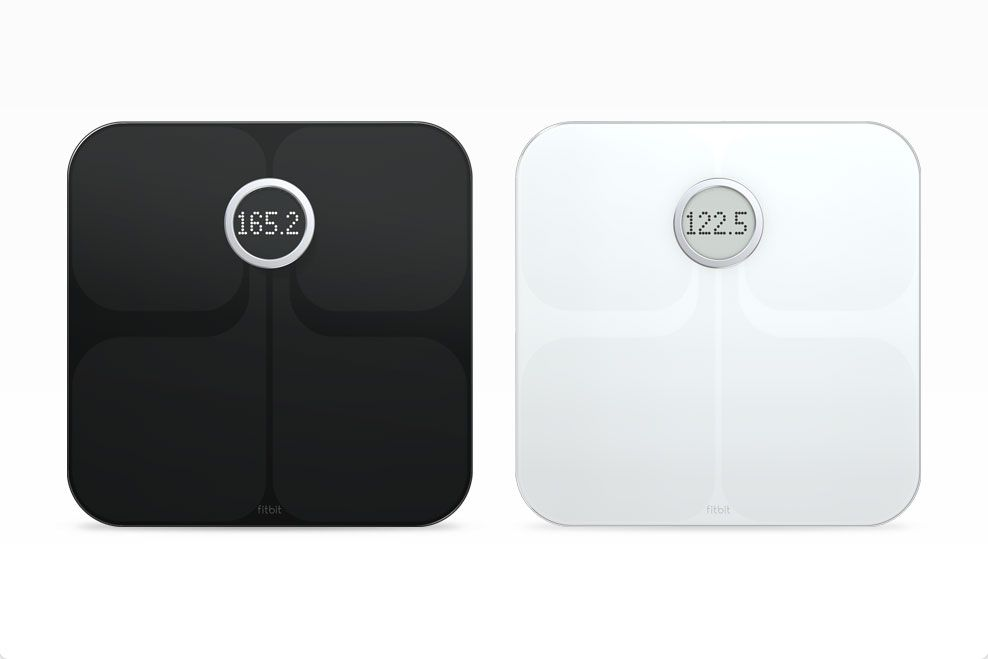 Fitbit Aria Wi-Fi Smart Scale //   Tracks weight, body mass index and % fat, then uploads wirelessly to Fitbit.com. With Fitbit's free online and mobile tools, you can see your weight trends with graphs and charts.