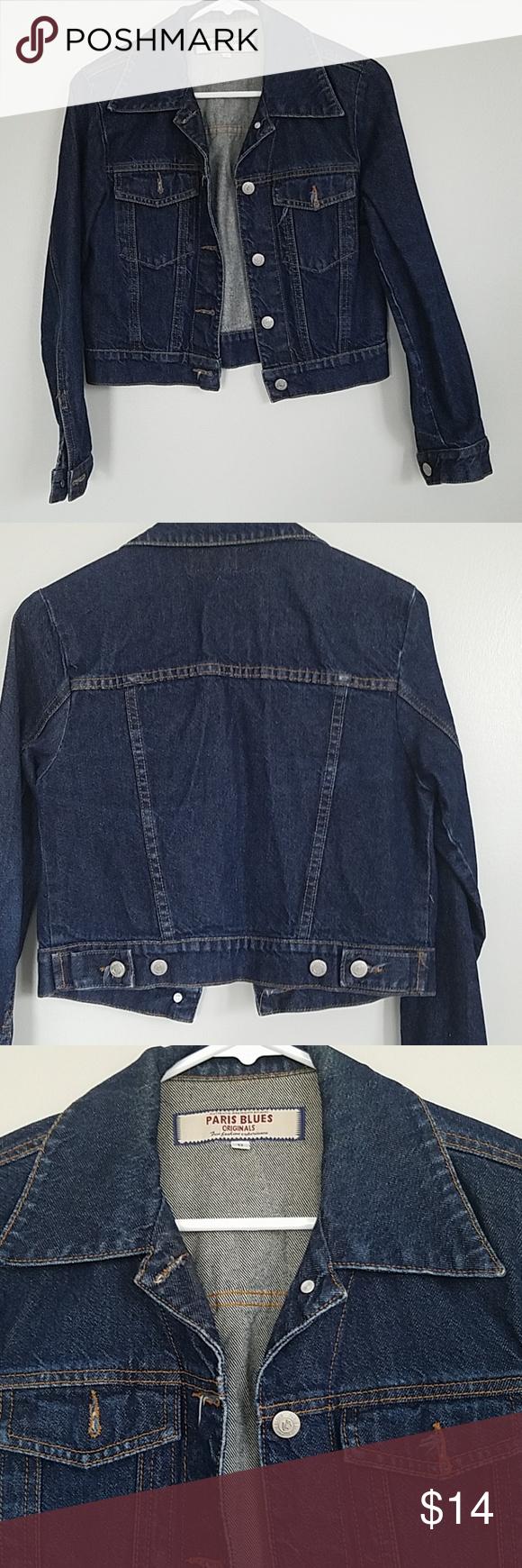 Vintage 90s Paris Blues Denim Jacket Denim Jacket Blue Denim Jacket Denim [ 1740 x 580 Pixel ]