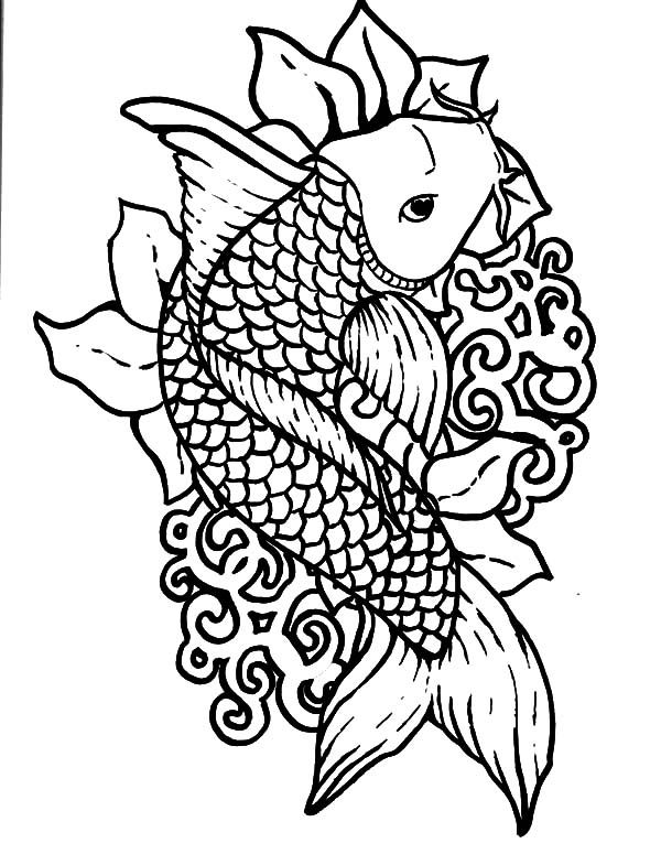 Picture Of Koi Fish Coloring Pages Fish Coloring Page Online Coloring Pages Animal Coloring Pages
