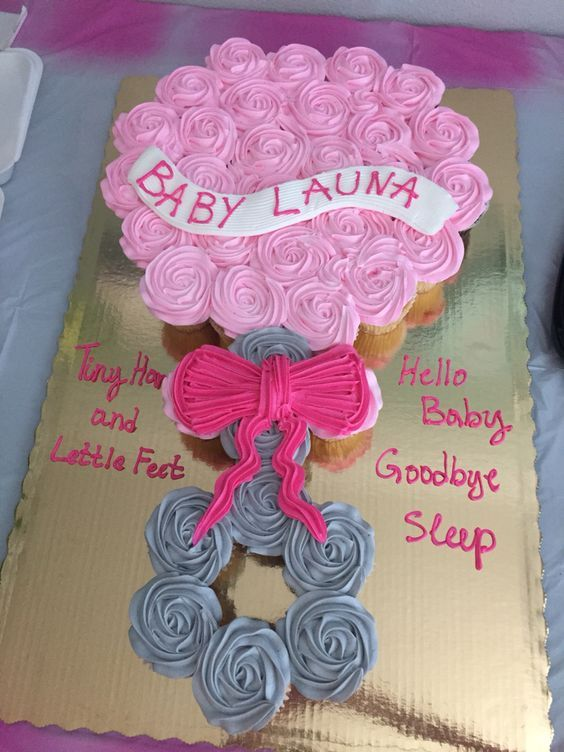 Baby Shower Pull Apart Cupcake Tiny Hands And Little Feet Hello