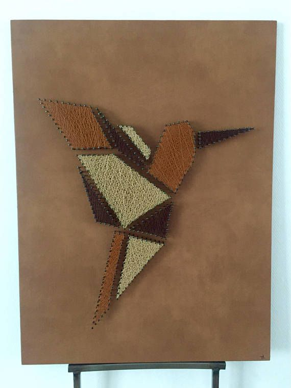 Hummingbird In Leather String Art Pinterest String Art Board