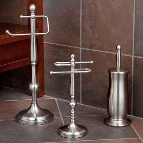 Ridge Shape Collection 3 Piece Bathroom Accessory Set  Brushed Mesmerizing Brushed Nickel Bathroom Accessories Design Decoration