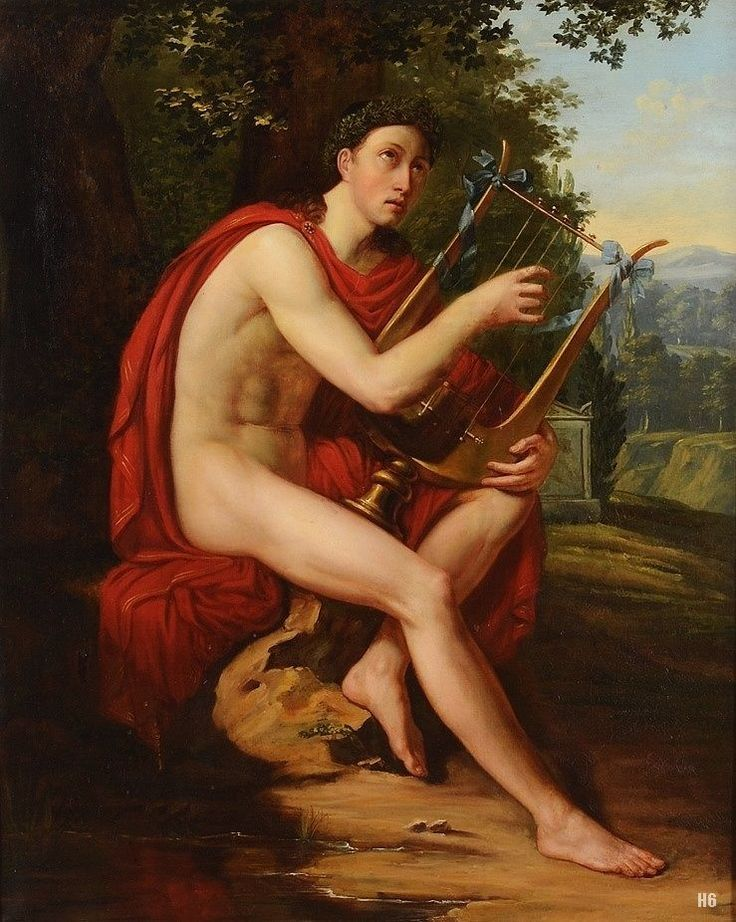 Image result for apollo lyre painting