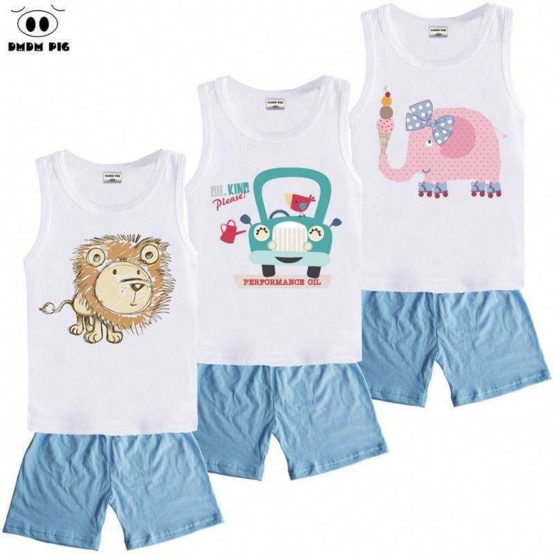 023920a37 DMDM PIG Kids Clothes Sets Boys Clothes Suit Toddler Girls Clothing Sets  Children's Sports Suits Baby Boy Girl Clothes For Boys