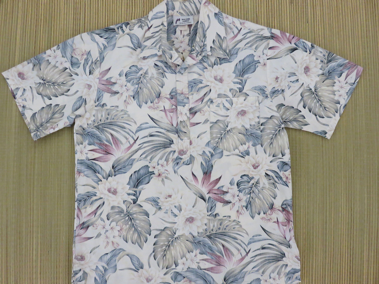 Hawaiian Shirt MALIHINI Hawaii Mens Vintage Surfer Aloha Shirt ...