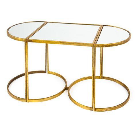 Tavolino Zara Home.Tavolini Specchio Set Da 3 Mobili Ausiliari Zara Home