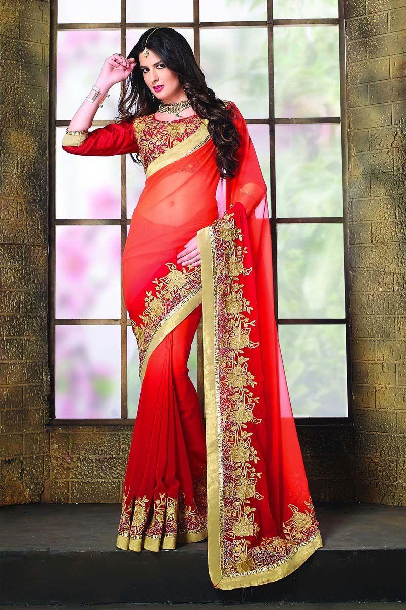 Buy Maroon Chiffon Designer Saree Online in low price at Variation. Huge collection of Designer Sarees for Wedding. #designer #designersarees #sarees #onlineshopping #latest #lowprice #variation. To see more - https://www.variationfashion.com/collections/designer-sarees