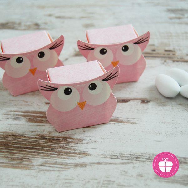♥ 10 x Taufe / Baby Gastgeschenke -Eule Pinc Box ♥ von ZuckerZauber BERLIN auf DaWanda.com