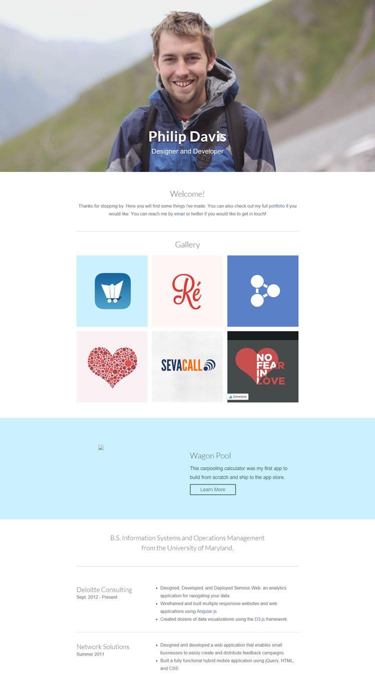 10 Free Professional Html Css Cvresume Templates It Pinterest - Cv-resume-template-css