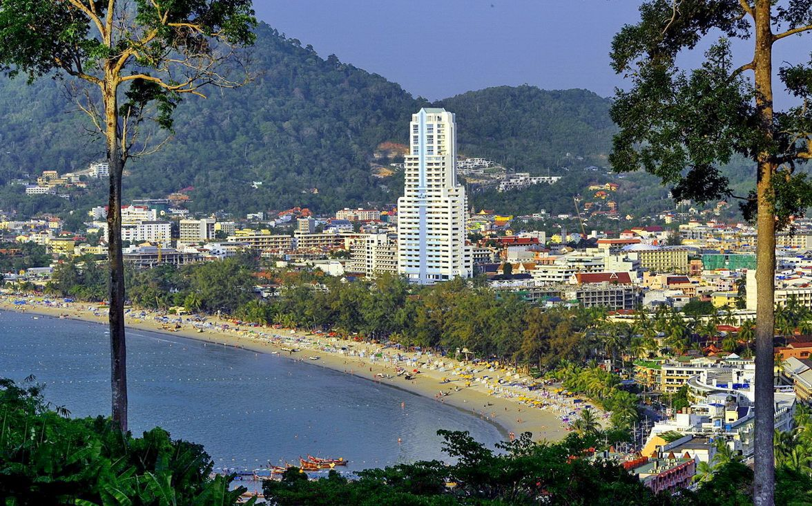 Aerial view of Patong Beach, phuket