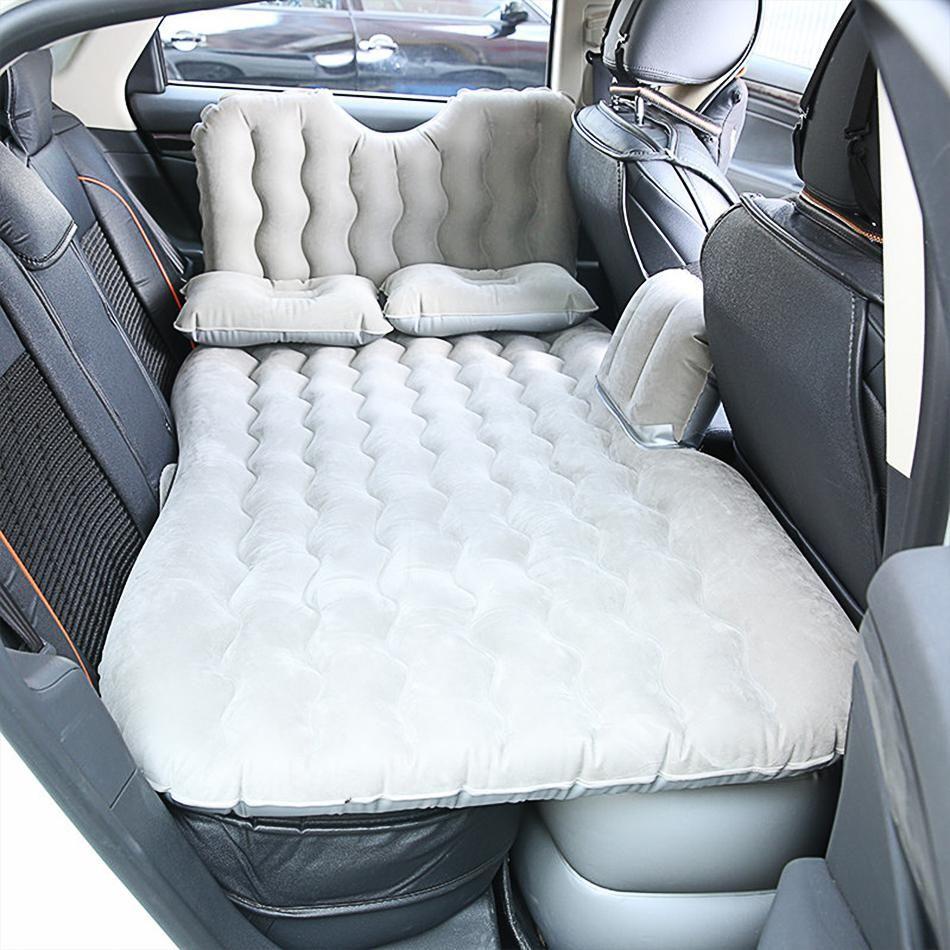 Inflatable Car Air Bed Mattress Back Rear Seat 2 Pillows Air Pump For Travel