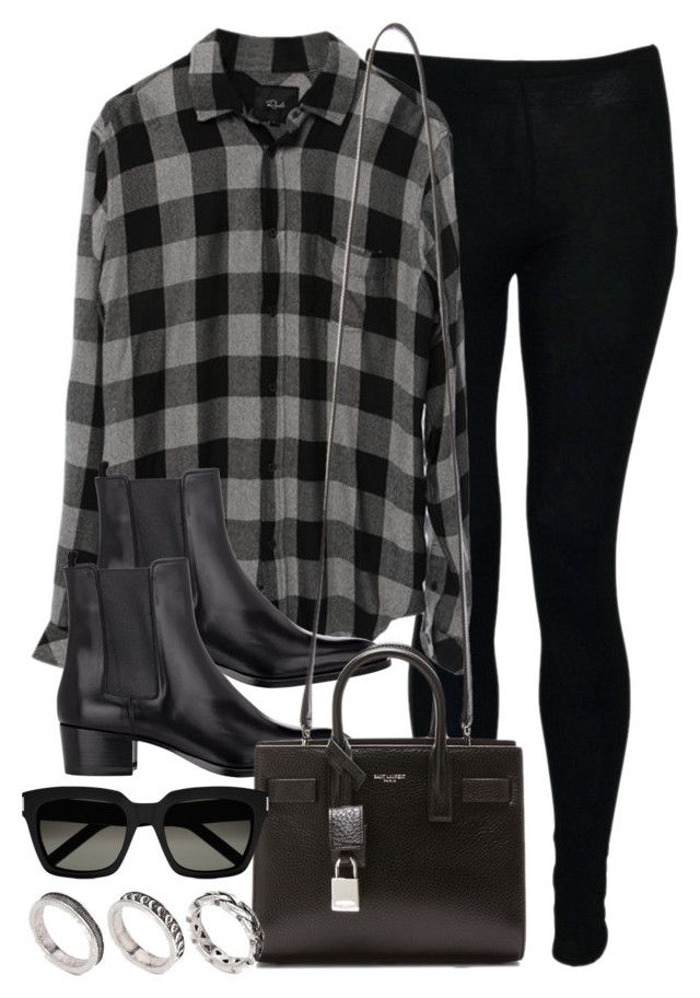 """""""Style #10432"""" by vany-alvarado ❤ liked on Polyvore featuring Yves Saint Laurent and ASOS"""
