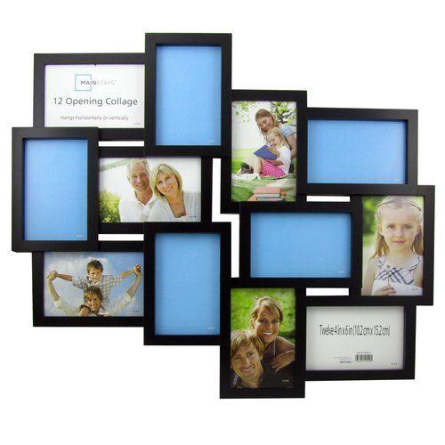 Mainstays Black Collage Frame Twelve 4x6 Openings Walmart Com Framed Photo Collage Collage Frames Frame