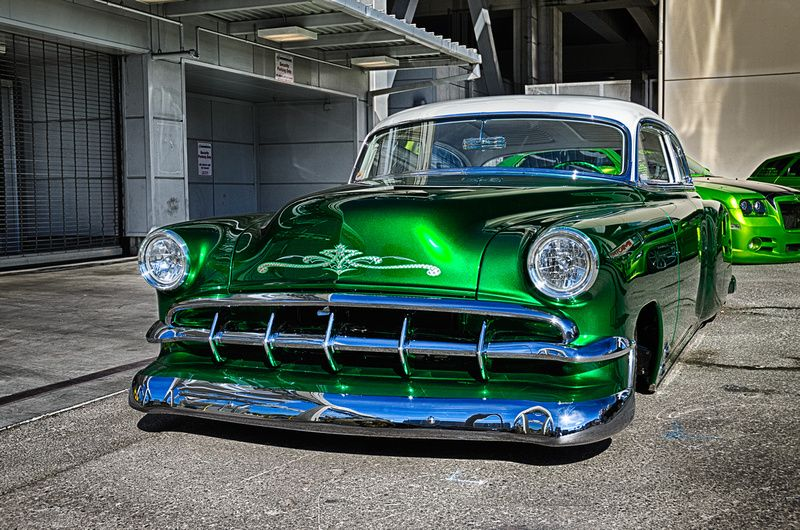 Candy Green Chevy Custom Sema Forged Photography