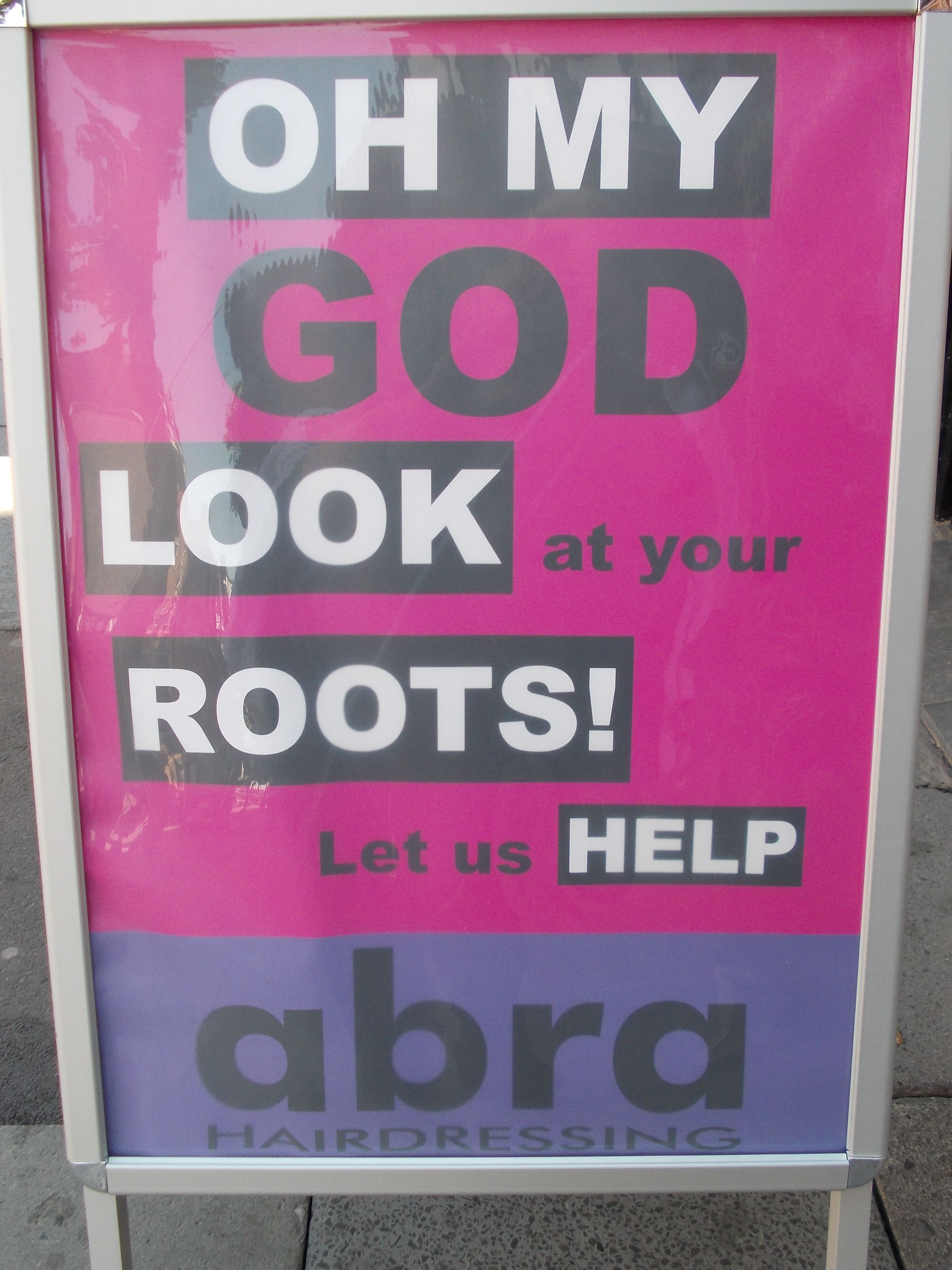 Poster Outside A Hair Salon Funny Great Advertising Salon