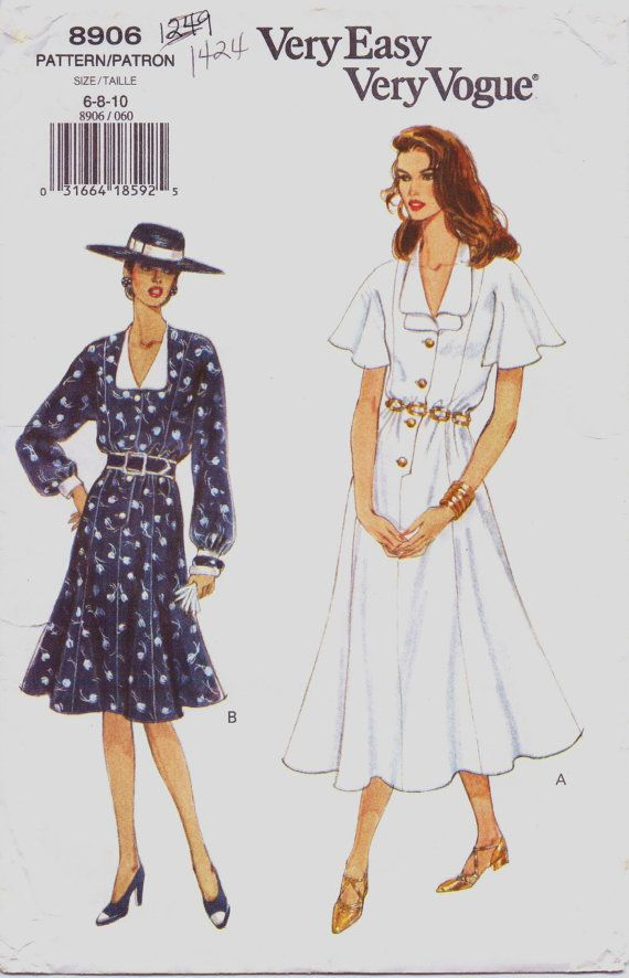 90s Very Easy Very Vogue Pattern 8906 Womens Flared by CloesCloset ...