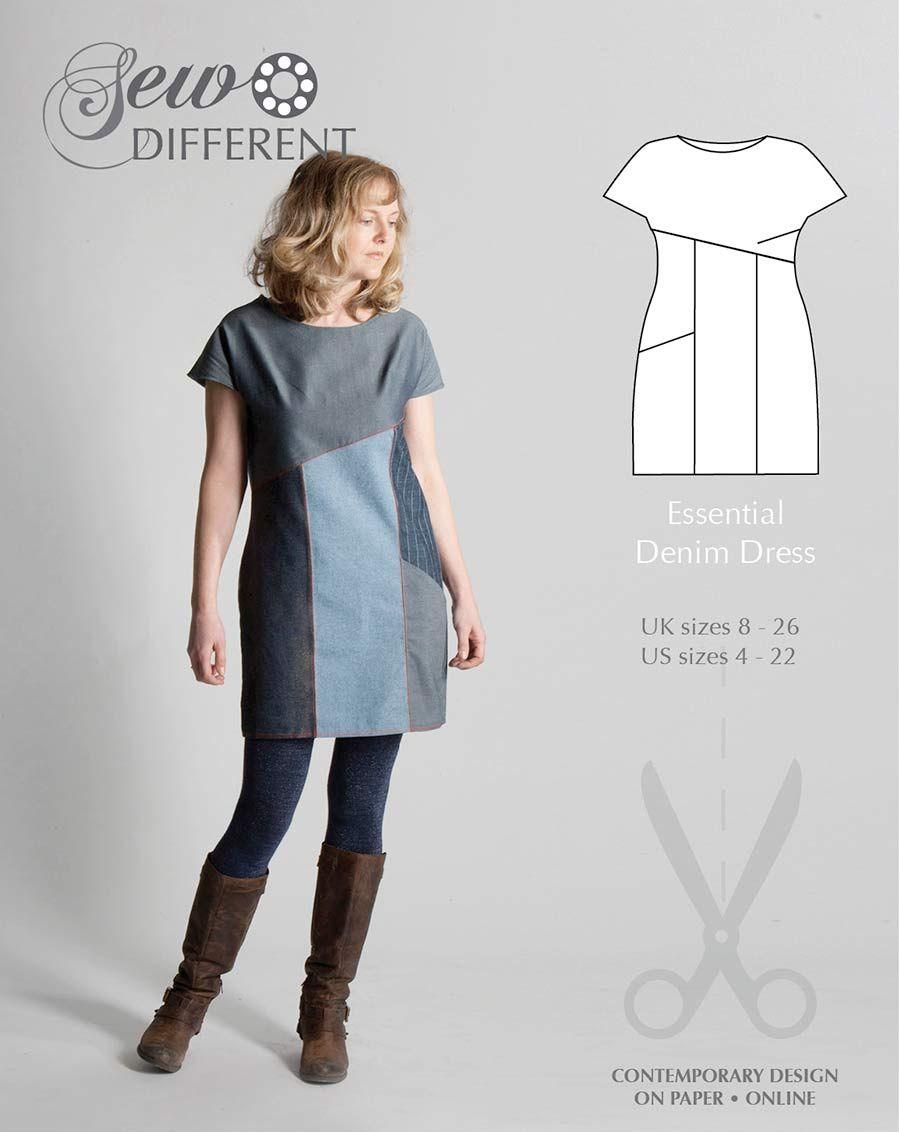 Essential Denim Dress - FREE SEWING PATTERN LC013 | Sew/Costura ...